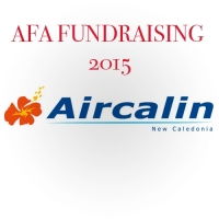 AIR CALIN RAFFLE TICKET - AFA FUNDRAISING 2015 - Click to enlarge picture.