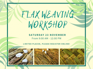 Flax weaving workshop
